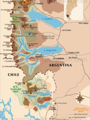 Monts et glaciers de Patagonie