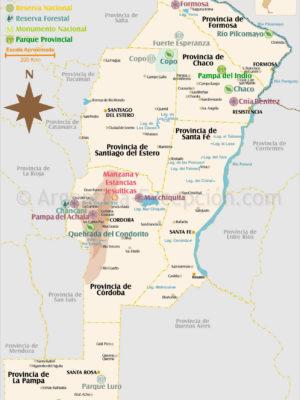 Parcs et reserves Sierras et Pampa