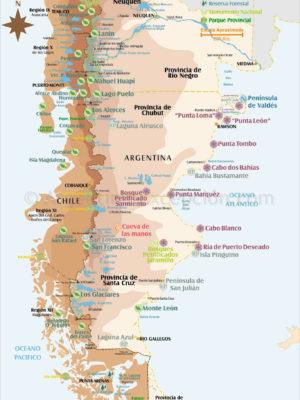 Parcs et reserves de Patagonie Australe