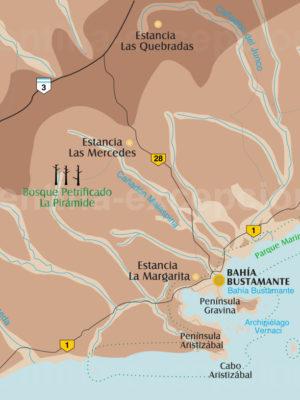 Bahia Bustamante et ses alentours