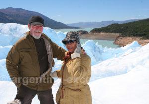 Voyageurs au Minitrekking Perito Moreno