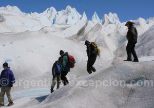Marche sur glacier en Patagonie