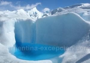 Piscine d'eau glaciaire, Perito Moreno