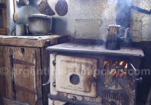 Cuisine typique des maisons en Patagonie