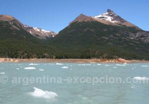 Icebergs du glacier Perito Moreno
