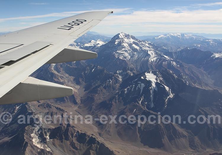 Survol de l'Aconcagua