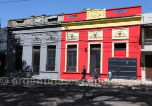 Façades colorées de Corrientes