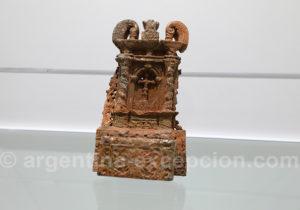 Ornement en pierre, site jésuite de Loreto, Misiones