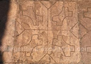 Dessin sur une dalle, ruines de San Ignacio