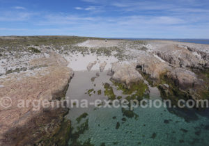 Petite plage réserve de Bahia Bustamante