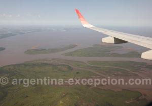 Survol du delta de Tigre