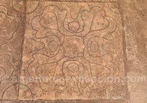 Dalle gravée aux ruines de San Ignacio