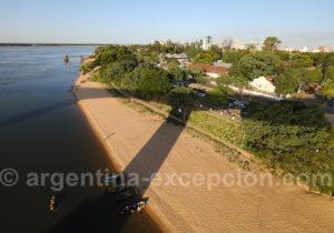 Plage Islas Malvinas depuis le pont General Belgrano