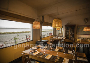 Salle à manger estancia Bahia Bustamante