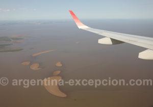 Survol du fleuve de La Plata