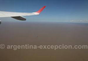 Survol du rio de La Plata