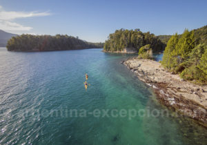 Lagon de l'île Victoria, Patagonie