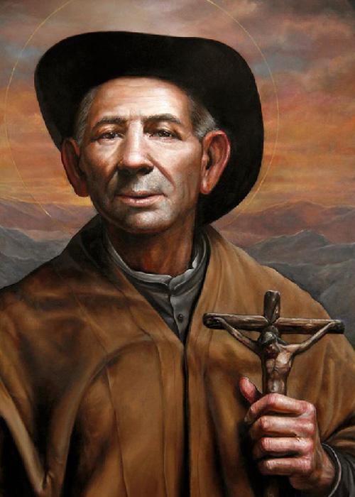 José Gabriel de Rosario Brochero, peinture Ricardo Celma
