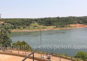 Trois Frontières, en face le Paraguay