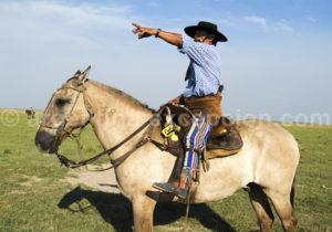 Un gaucho sur sa monture, Estancia Buena Vista