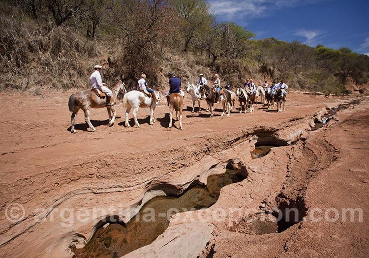 Promenade équestre avec les gauchos de l'estancia El Colibri