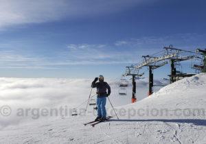 Skier en Patagonie