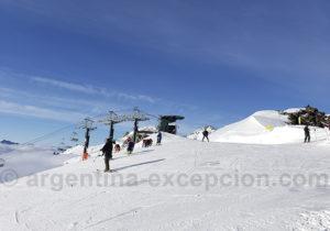 Sommet des pistes à Cerro Catedra