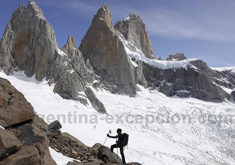 Glacier Rio Blanco et Fitz Roy