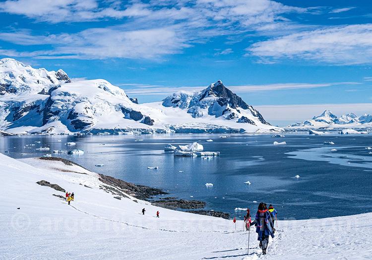 Sortie randonnée, croisière Antarctique