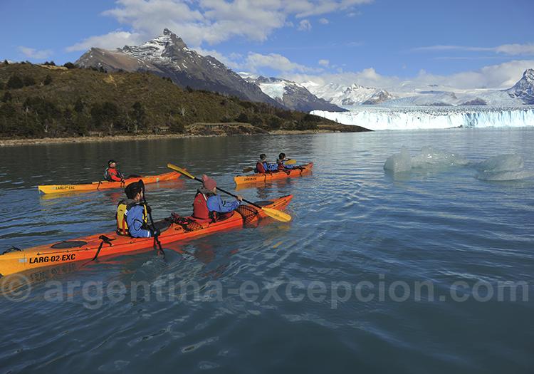 Kayak aux pieds du glacier Perito Moreno