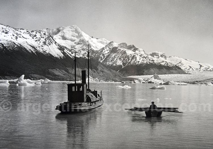 Le glacier Upsala en 1914, Archives estancia Cristina