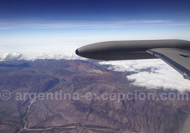 Le Cerro Hornocal vu du ciel