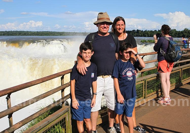 Les chutes d'Iguaçu en famille