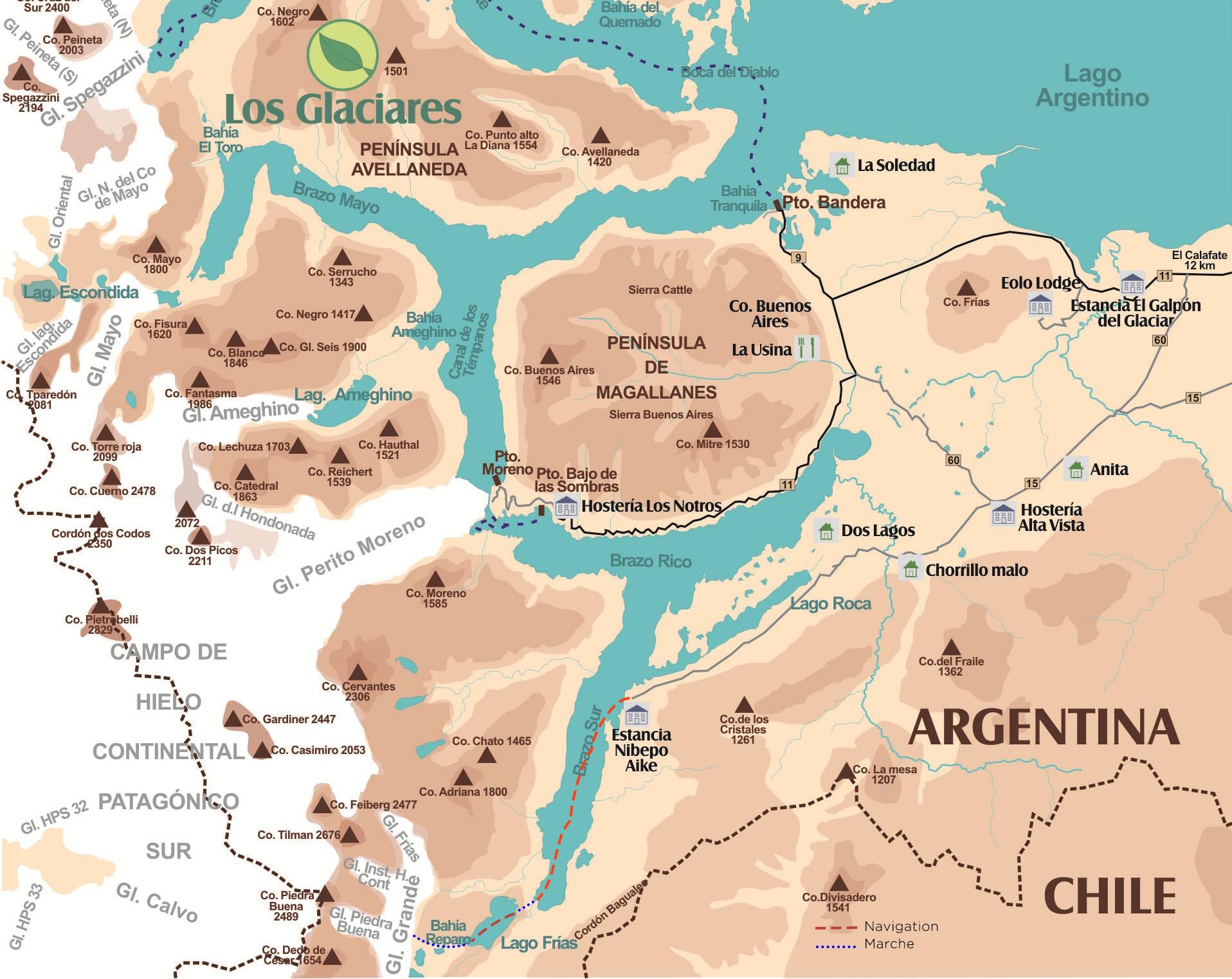 Carte randonnée et navigation