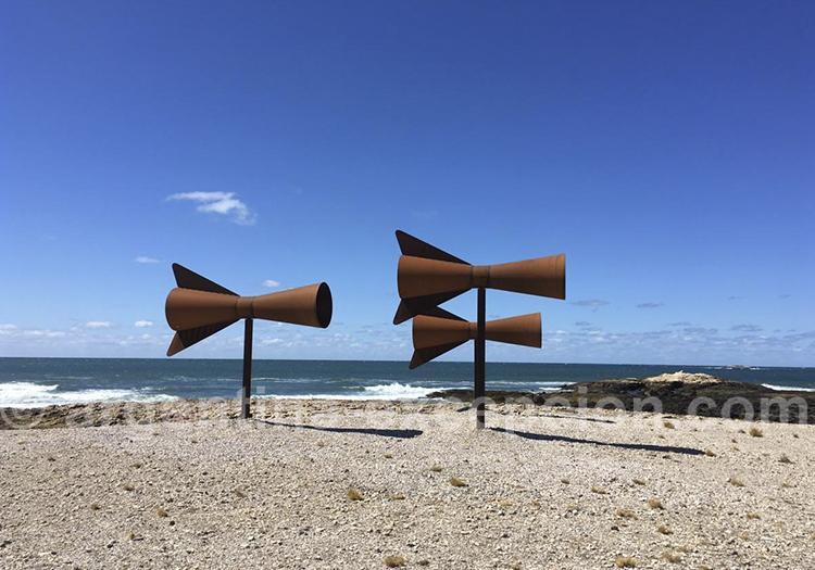 Ouvrage d'art de Christian Boltanski à Bahia Bustamante