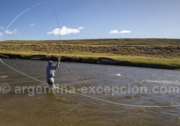 Pêche au Saumon à l'estancia Kau Tapen