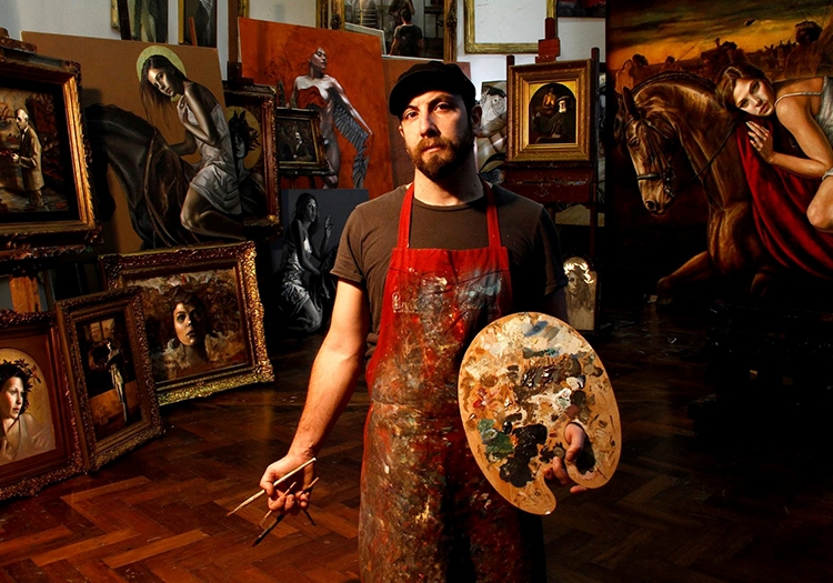 Ricardo Celma dans son atelier