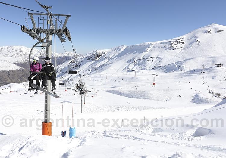 Skier dans les Andes