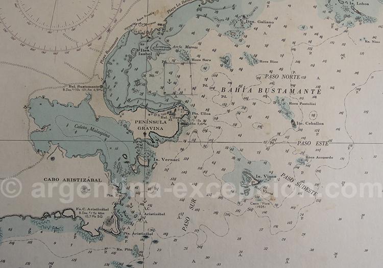 Carte de Bahia Bustamante