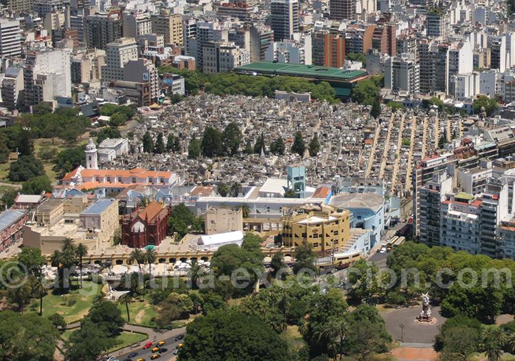 Vue aérienne du Centre Culturel de la Recoleta