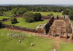 Vue aérienne du site de San Ignacio Mini