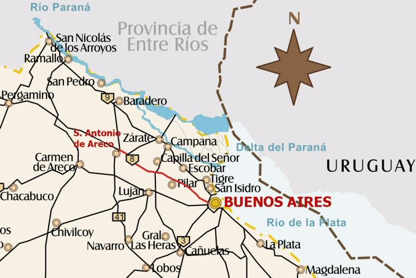 Carte San Antonio de Areco