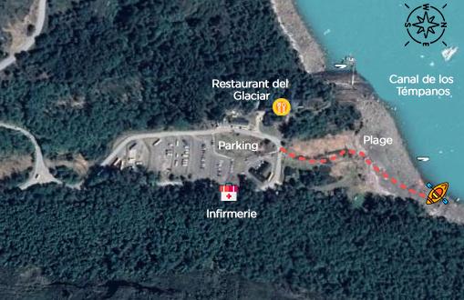 Carte kayak Perito Moreno