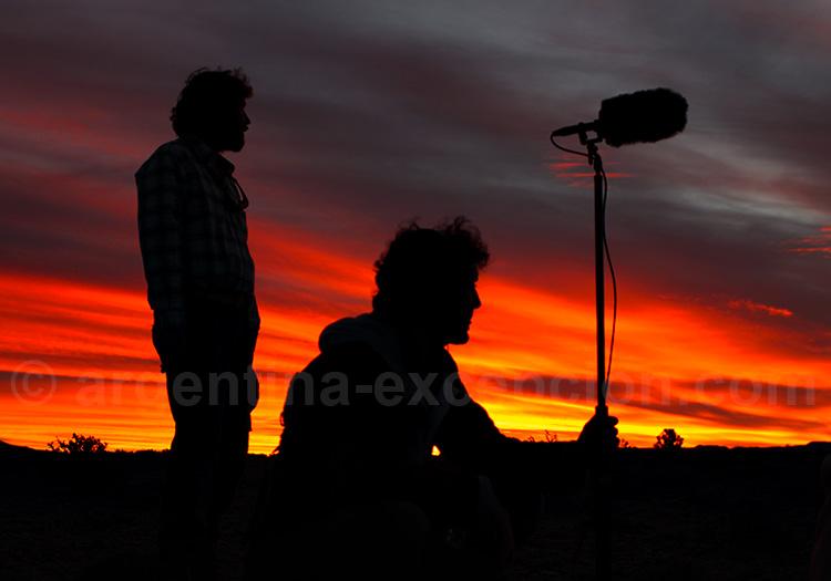 Les magiques couchers de soleil à Trelew